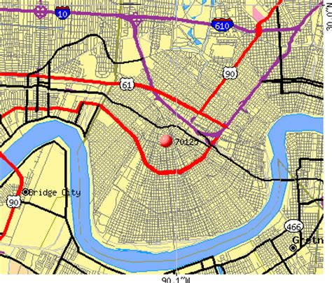 zip code map new orleans map new orleans zip codes images