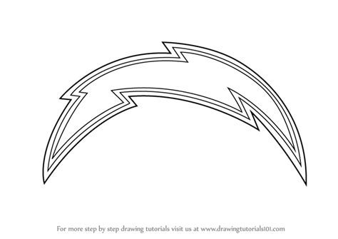 nfl chargers coloring pages learn how to draw san diego chargers logo nfl step by