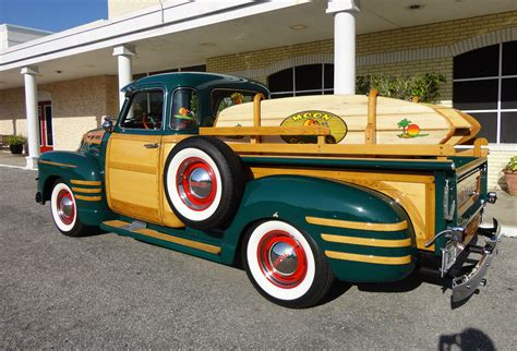 1950 chevrolet 3100 custom woody retro wheel f