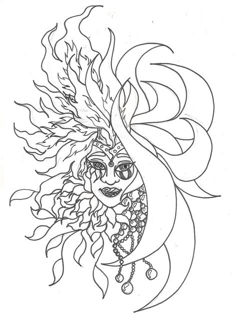 sun coloring page for adults 834 best images about coloring for adults on pinterest