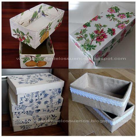 como decorar cajas de carton zapatos cajas de zapatos customizadas reciclaje manualidades