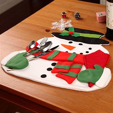 snowman table runner and placemats snowman napkin holding placemats 4pc buy