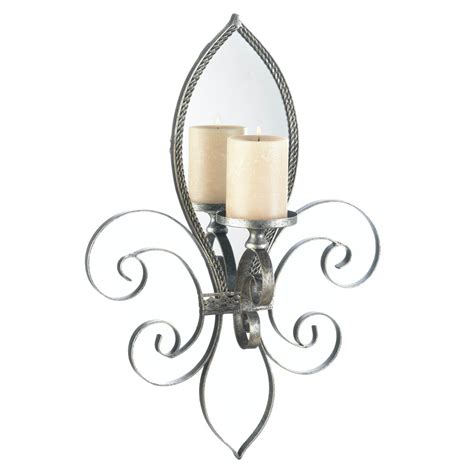 Wholesale Fleur De Lis Home Decor by Fleur De Lis Mirrored Wall Sconce Wholesale At Koehler