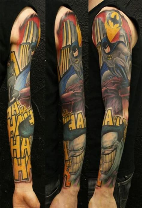 batman sleeve tattoo batman tattoos sleeve www pixshark images