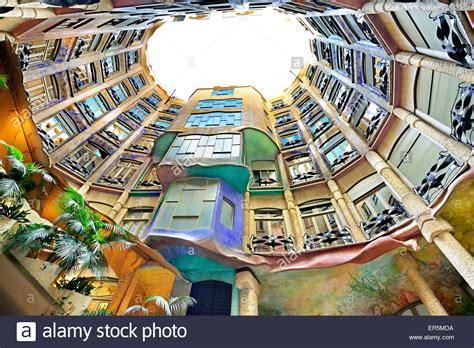 gaudi casa mila casa mila casa mil 224 la pedrera atrium architect antoni