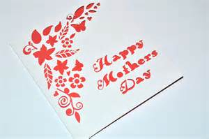 sweet pea design laser cut mothers day card floral