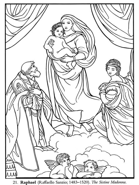 italian renaissance art coloring pages sketch coloring page