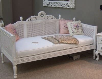 shabby chic daybed le provencal shabby chic handcarved ornate rattan sofa day bed
