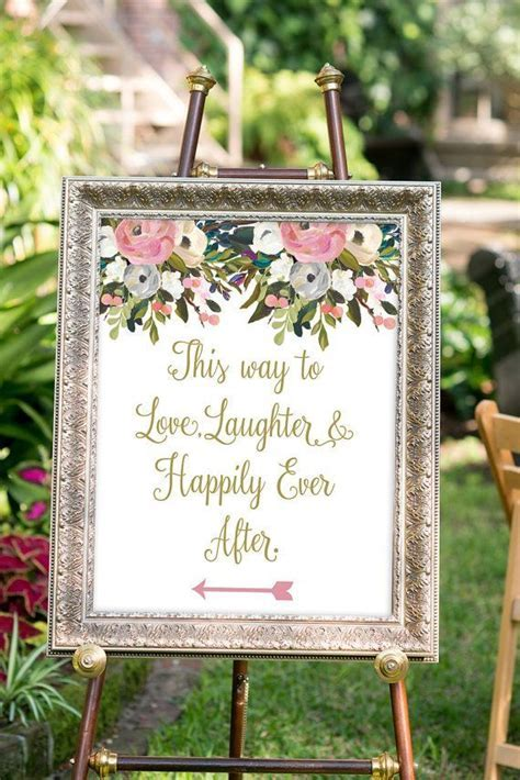 PRINTABLE   Love, laughter and happily ever after sign