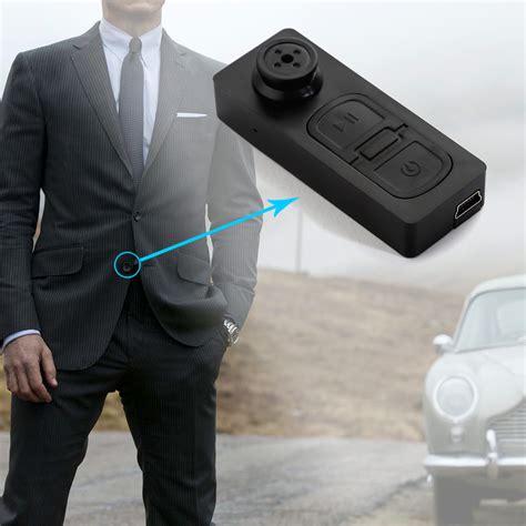Iphone Home Button Decoration mini button hidden spy camera shirt video camera dvr