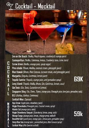 menu for cocktail for 50 menu food 4 picture of nhac cafe hanoi tripadvisor