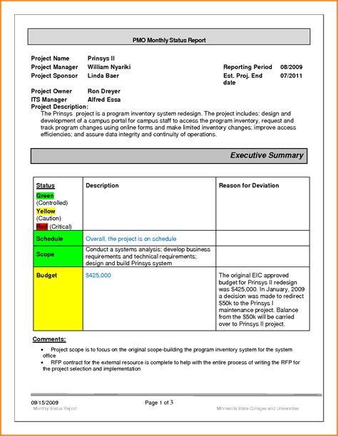 monthly status report template pin monthly expense report sle on