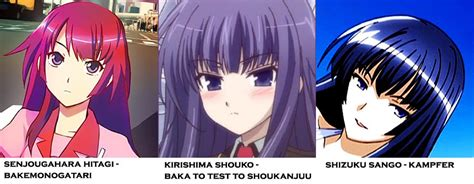 anime hairstyles and personality otaku cc sanctuary just for fun look alikes in anime