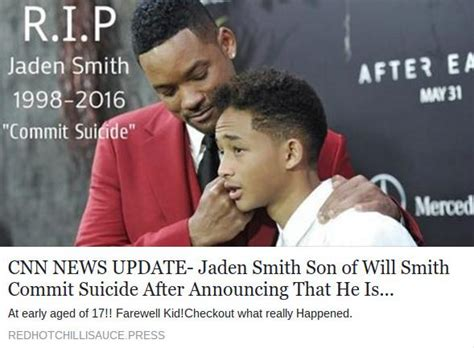 Lepaparazzi News Update Smith Has Died At The Rock Cnn Reporting jaden smith is not dead the of pinkett and will