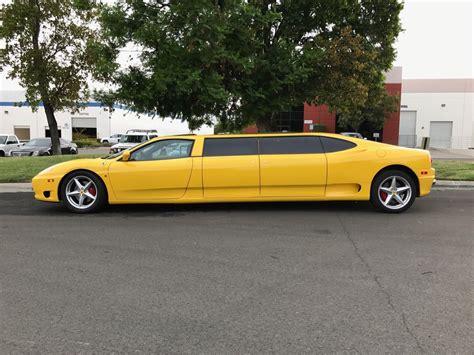 limousine ferrari yellow ferrari 360 limousine is one of a kind fails to