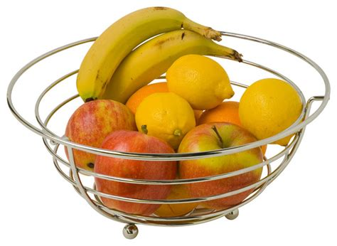 modern fruit shop houzz holdnstorage chrome fruit bowl fruit bowls