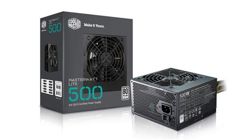 Cooler Master Lite 500 Watt 80plus Power Supply Masterwatt Lite 500w Power Supply Cooler Master