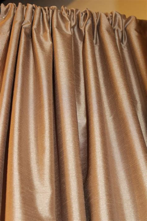 silk drapery ready made drapery faux silk dupioni bronze