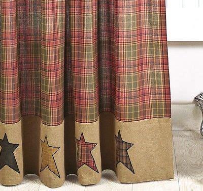 rustic red curtains details about primitive burlap star shower curtain