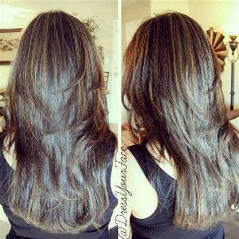 soften course hair double tap if you love layers custom soft layered cut and