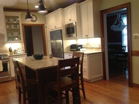 White Cupboards With Wood Trim - white cabinets wood trim information