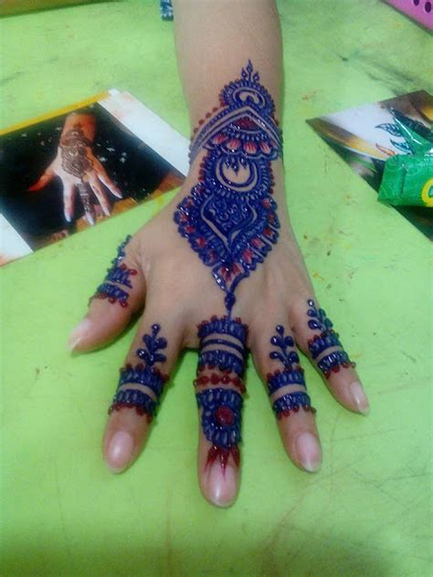 henna colored tattoo colored henna designs mehandi design