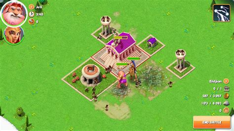 Plunder and pillage as a Greek deity in Gods of Olympus