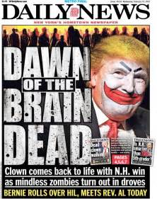 ny daily news front page is to donald