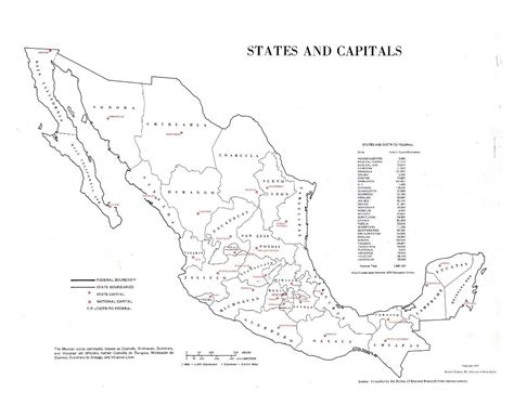 map of mexico and capitals maps of mexico detailed map of mexico in