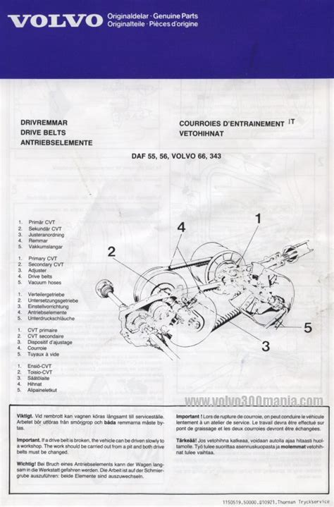 volvo  mania view topic variomatic drive belts