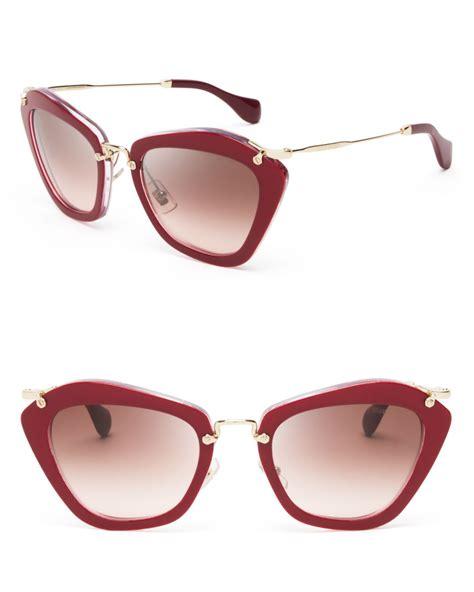 Kacamata Miu Miu Cat Eye Free Lensa Miu Miu Glitter Cat Eye Sunglasses In Lyst