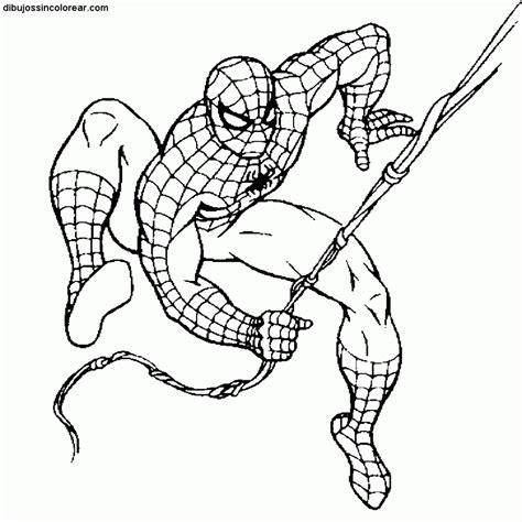 imagenes para colorear spiderman dibujos sin colorear dibujos del hombre ara繝箜a spiderman