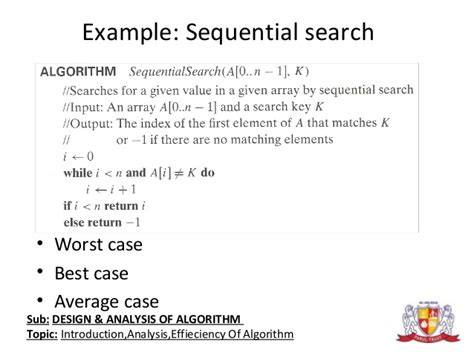 Average Of Sequential Search Design And Analysis Of Algorithms