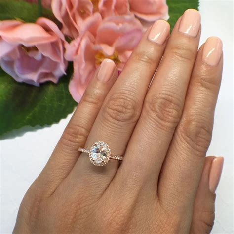 1 ct oval ring on new 1 ctw 3 4 ct oval halo engagement ring classic halo