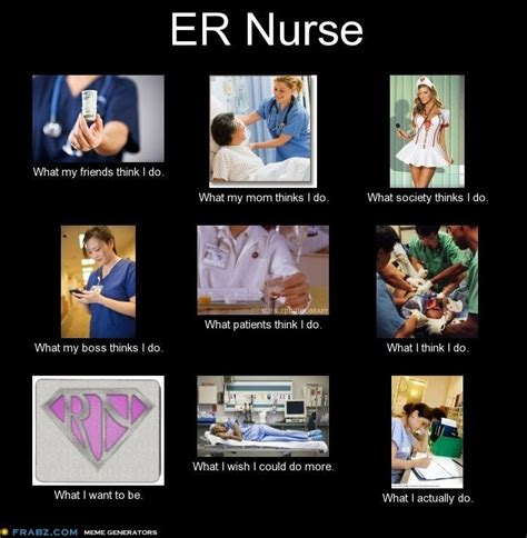 Er Memes - er nurse what they think i do nursing humor