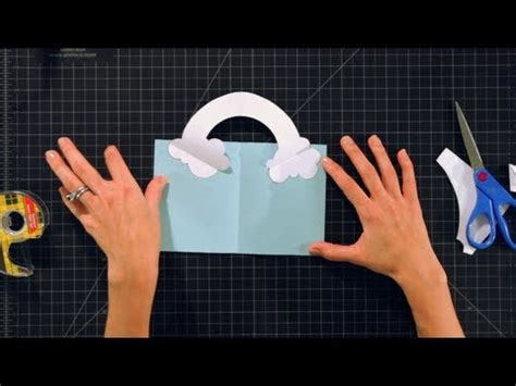 Rainbow Pop Up Card Template by How To Make A Rainbow Pop Up Card Pop Up Cards
