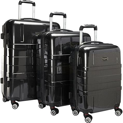 bugatti 3 luggage set bugatti 3 luggage set black one size