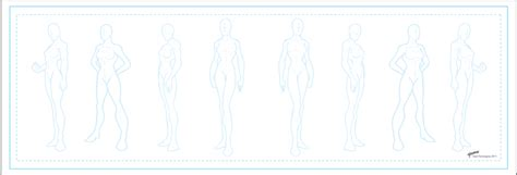 Character Template 3 Females By Stourangeau On Deviantart Character Design Template