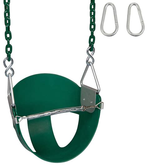 half bucket swing high back half bucket swing seat with coated chain 8 5