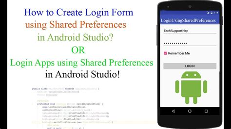 design login form in android how to create login form using shared preference in