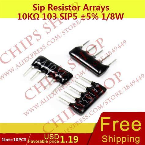10k X 8 Sip9 Resistor Array Pack Network Pin A103g 10k sip resistor reviews shopping 10k sip resistor reviews on aliexpress alibaba