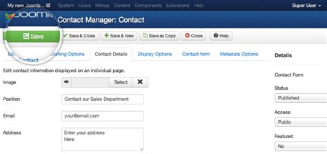 tutorial for joomla 3 3 how to create a joomla contact us page