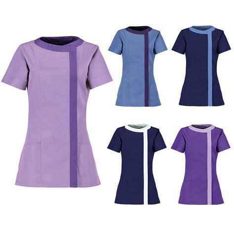 jersey design with collar womens alexandra short sleeved tunic work wear beauties