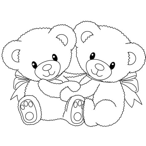 cute teddy bear coloring page drawn teddy bear heart outline pencil and in color drawn