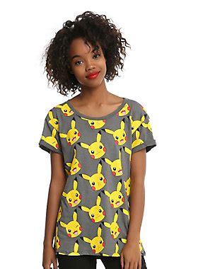 Pajamas Gudetama Yellow pikachu faces cuff sleeved t shirt topic