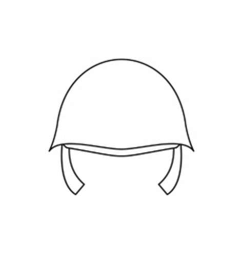 Soldier Helmet Outline by Soldier Helmet Icon Outline Style Royalty Free Vector Image