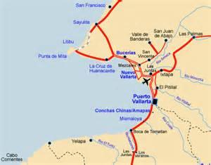 banderas map boating snorkeling and jungle beaches vacation villas
