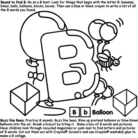 Alphabet B Crayola Co Uk Letter B Coloring Page