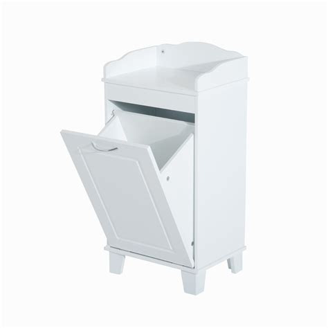 bathroom storage with laundry bin homcom wooden bathroom laundry her cabinet white st