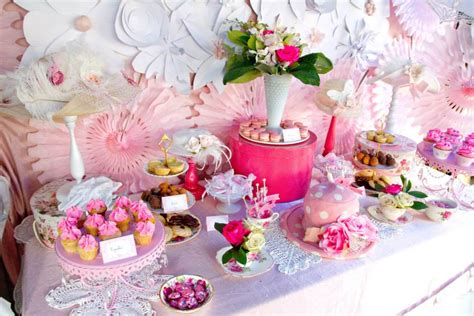 bridal shower ideas tea pink and white high tea bridal shower bridal shower